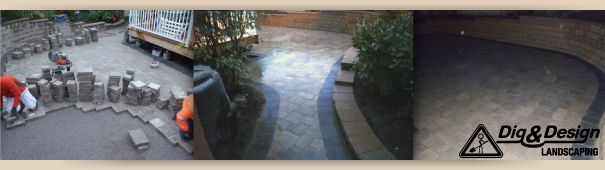 Before and after path and patio