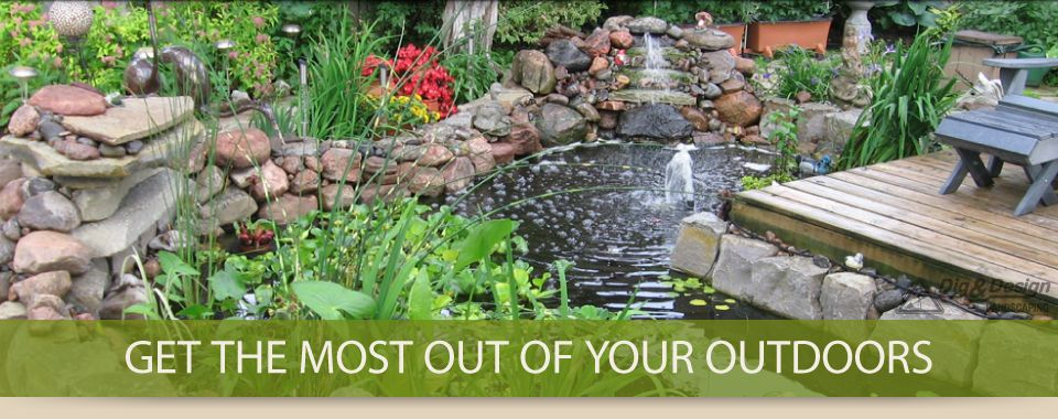 Get the most out of your outdoors - landscaping and water feature