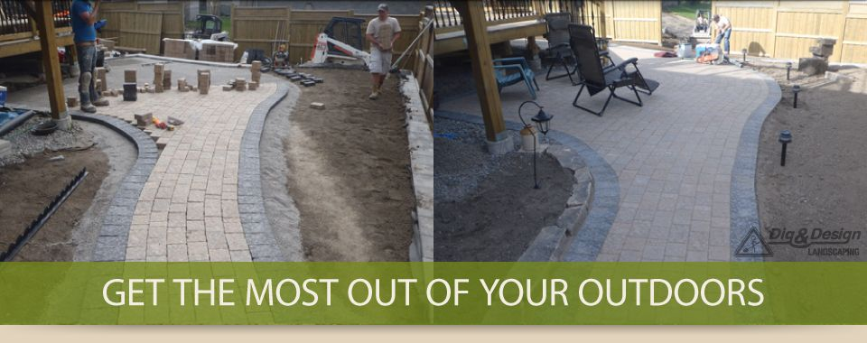 Get the most out of your outdoors - interlock path and patio