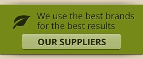 We use the best brands for the best results - Our suppliers
