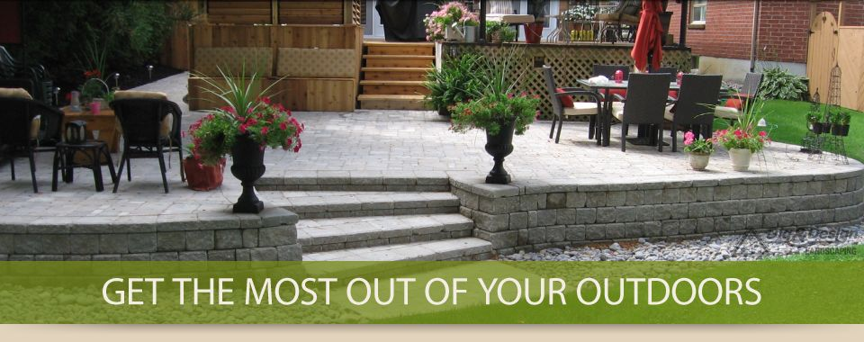 Get the most out of your outdoors - retaining wall and patio